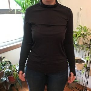 Pullover with thumb holes